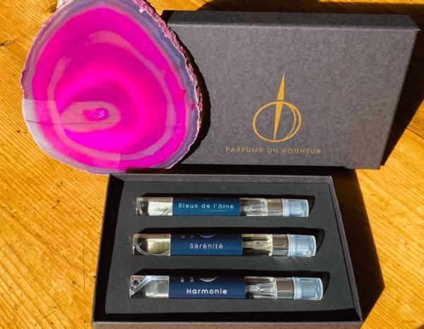 Description du coffret Help de Parfums du Bonheur